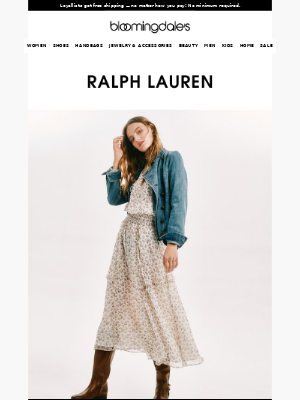 Just in from Ralph Lauren: Airy dresses & rugby classics