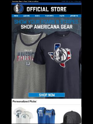Dallas Mavericks - Rep Your Squad in America's Colors!