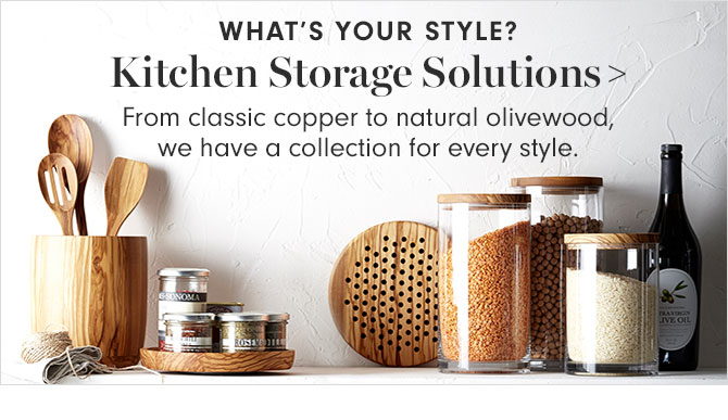 WHAT'S YOUR STYLE? Kitchen Storage Solutions