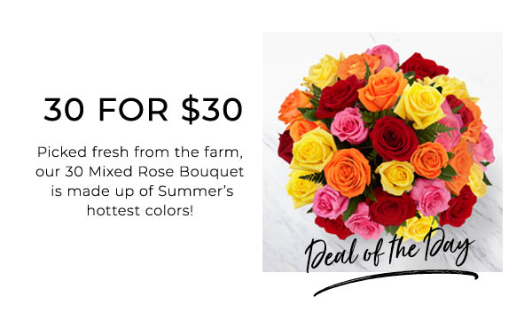 30 for $30 Mixed Roses
