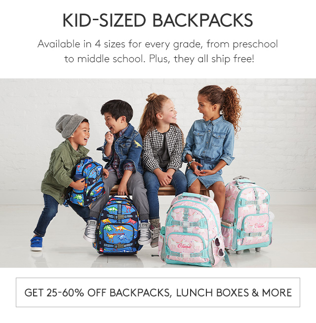 GET 25-60% OFF BACKPACKS, LUNCHBOXES & MORE