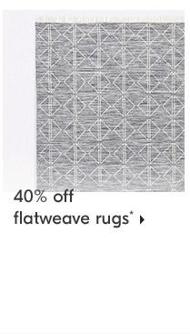 40% off flatweave rugs