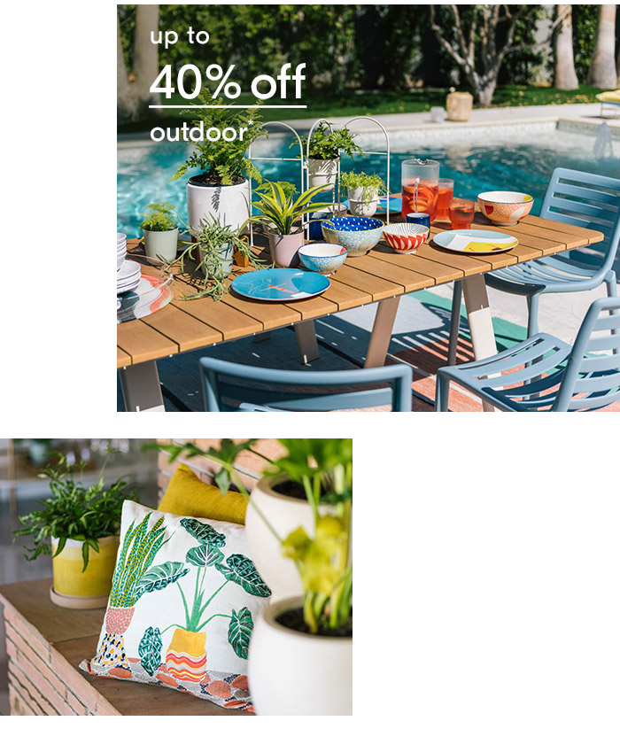 up to 40% off outdoor