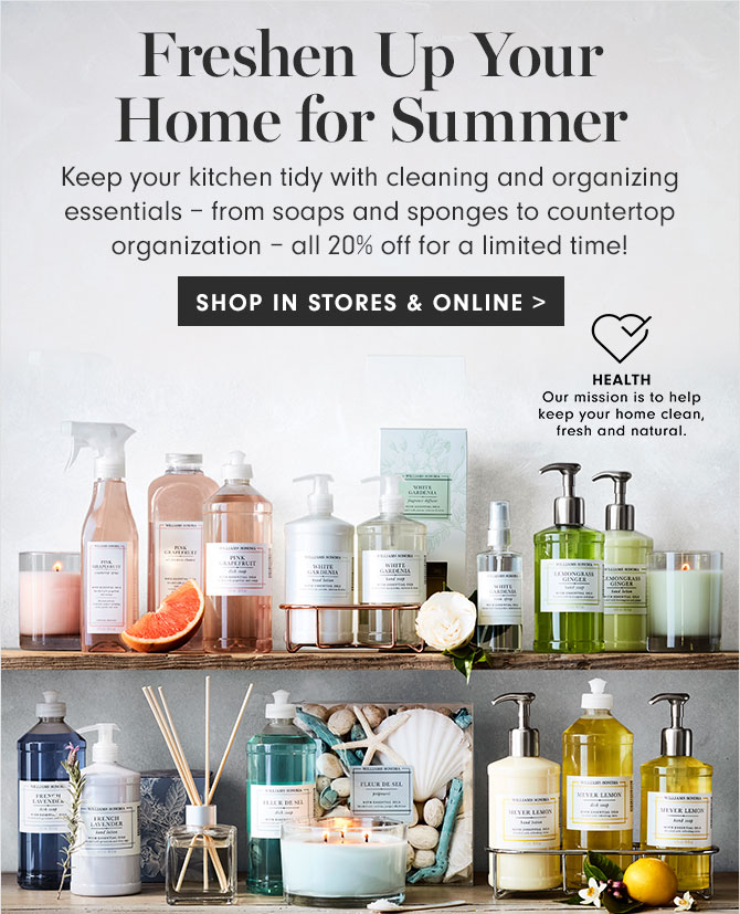 Freshen Up Your Home for Summer - SHOP IN STORES & ONLINE