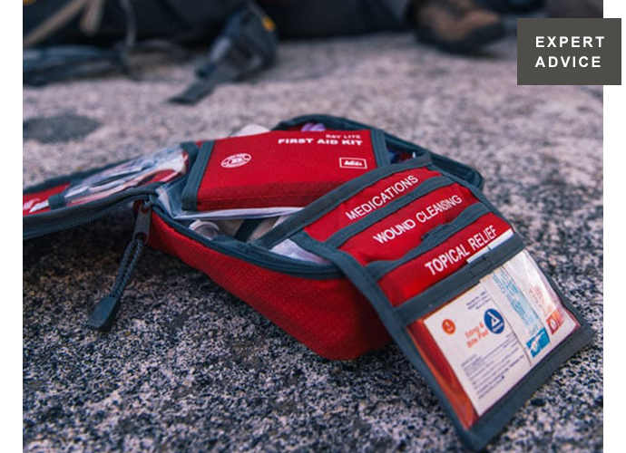 EXPERT ADVICE. First aid hiking kit