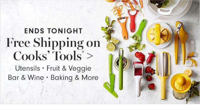 Free Shipping on Cooks' Tools*