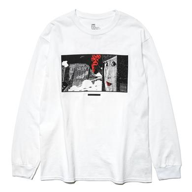 NEXUSVII  'THE NIGHT VIEW' LS T-Shirt White/Red