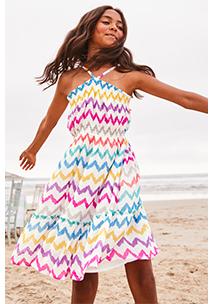 Strappy Smocked Midi Dress
