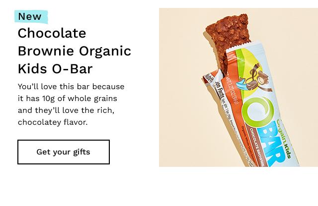 Chocolate Brownie Organic Kids O-Bar. Get your gifts.