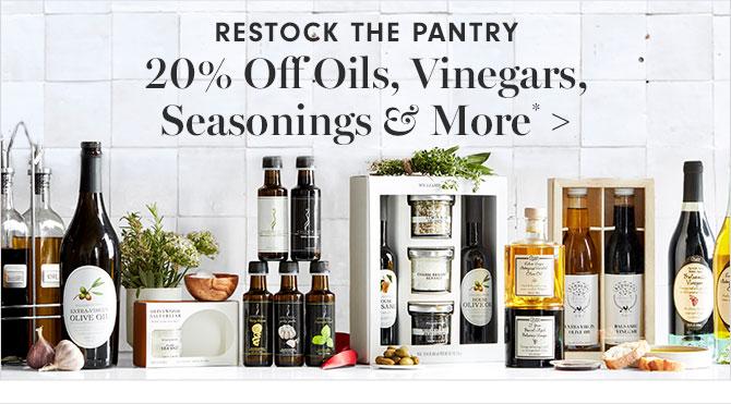 20% Off Oils, Vinegars, Seasonings & More*