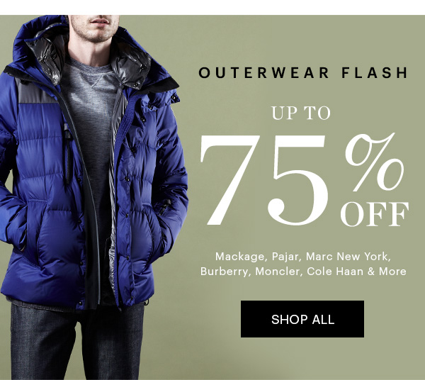 Outerwear, Up to 75% Off