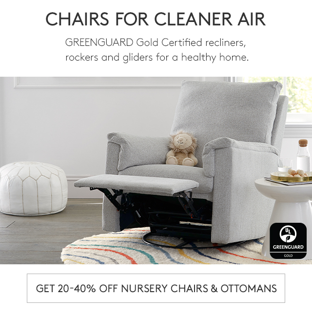 GET 20-40% OFF NURSERY CHAIRS & OTTOMANS