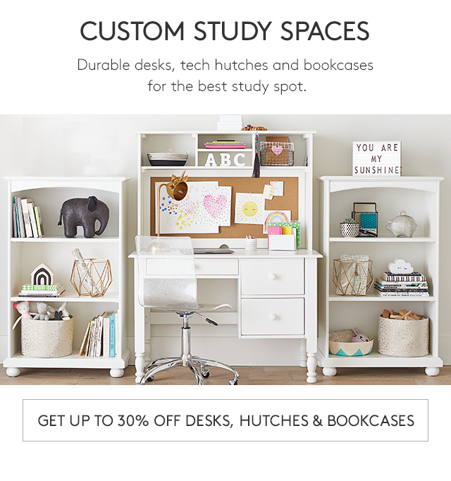 GET UP TO 30% OFF DESKS, HUTCHES & BOOKCASES