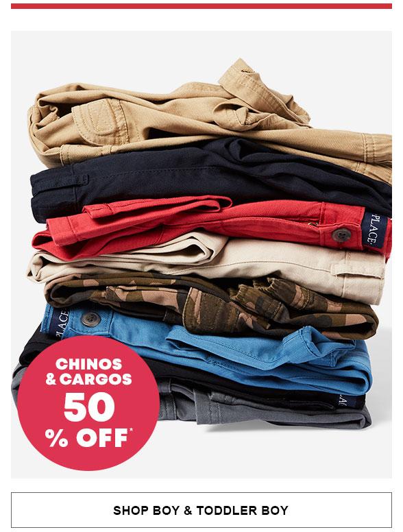 50% Off Cargos & Chinos
