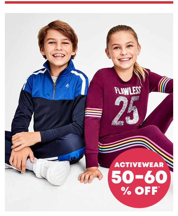 50-60% Off Activewear
