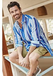 Linen Cotton Pattern Shirt