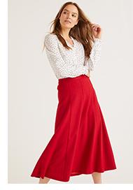 Esme British Tweed Midi Skirt