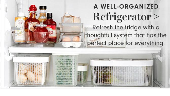 A WELL-ORGANIZED Refrigerator