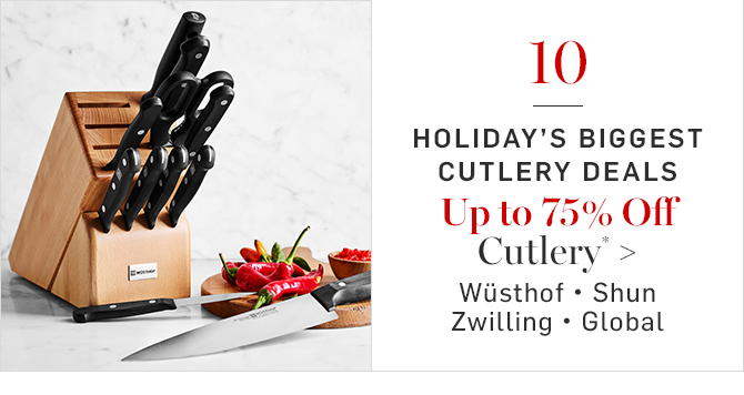 Up to 75% Off Cutlery*