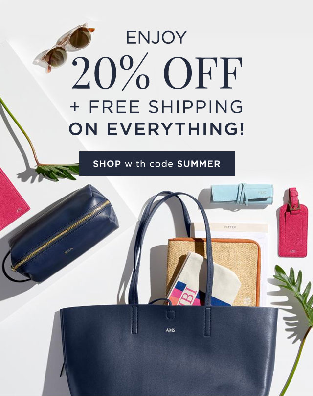 ENJOY 20% OFF + FREE SHIPPING ON EVERYTHING! - SHOP with code SUMMER