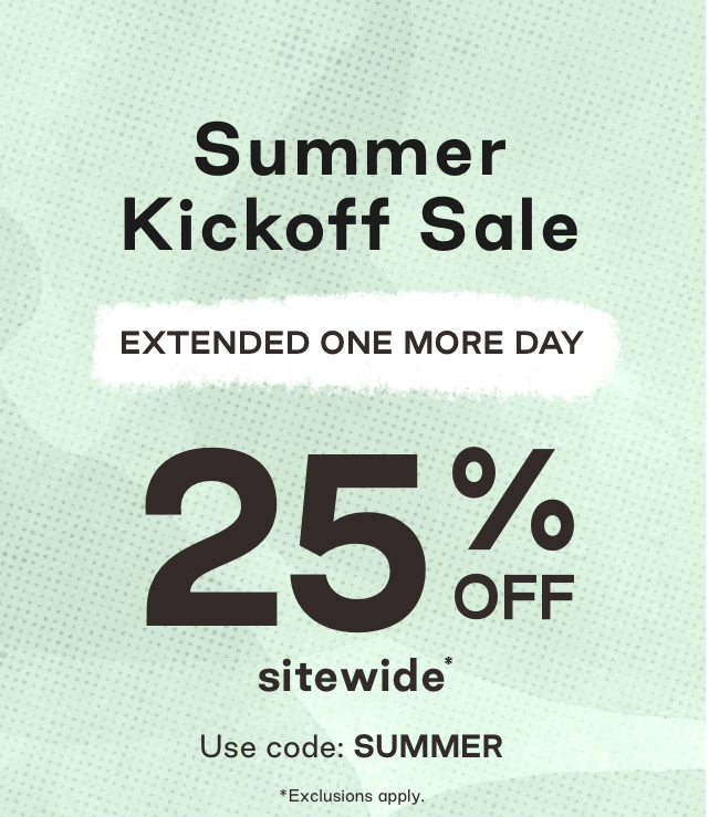 Get 25 off sitewide with code: SUMMER