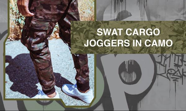 SWAT Cargo Joggers In Camo