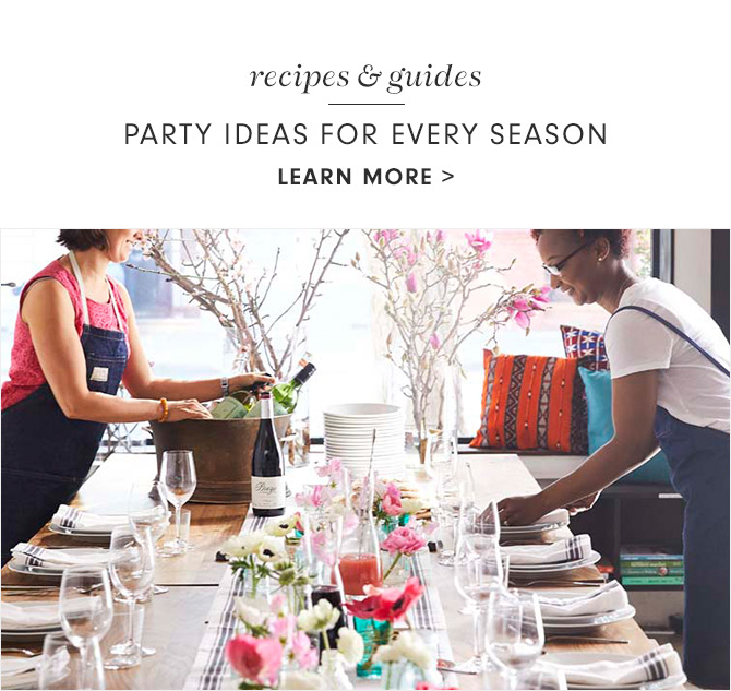 recipes & guides - PARTY IDEAS FOR EVERY SEASON - LEARN MORE