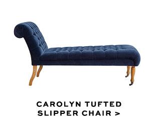 CAROLYN TUFTED SLIPPER CHAIR
