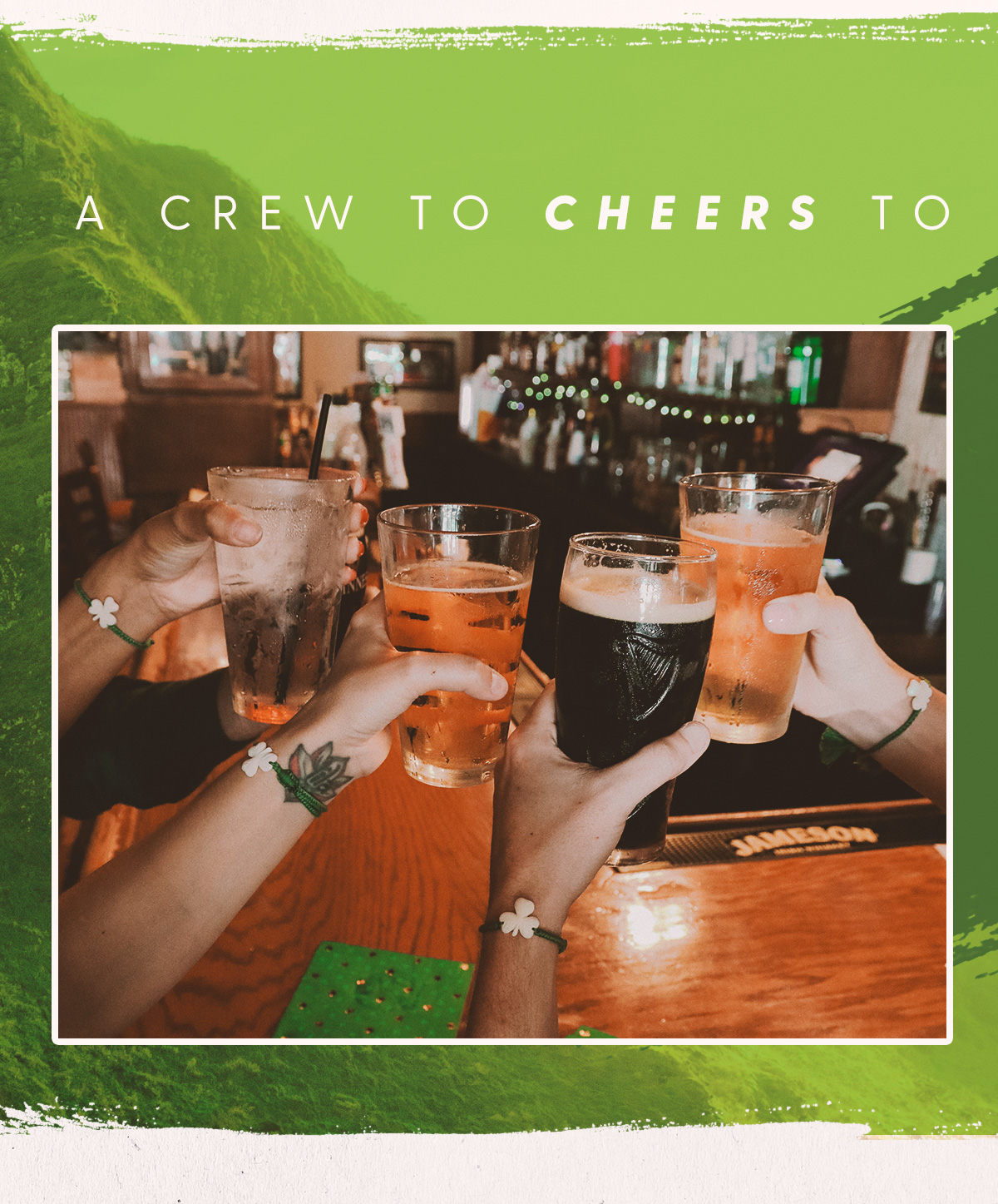 A crew to cheers to
