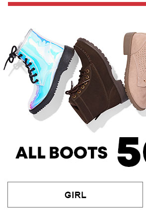 Girl Boots 50-60% Off