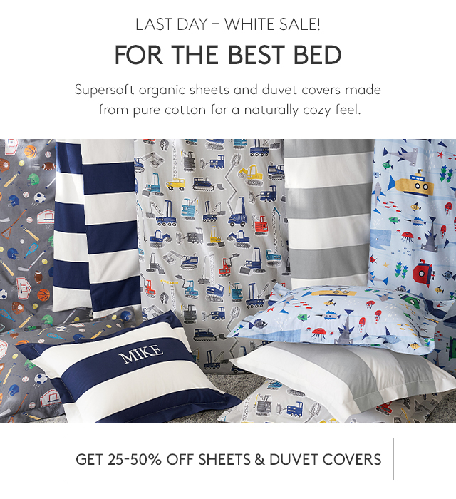 GET 25-50% OFF SHEETS & DUVET COVERS