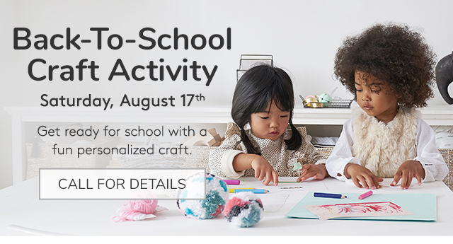 BACK-TO-SCHOOL CRAFT ACTIVITY - CALL FOR DETAILS