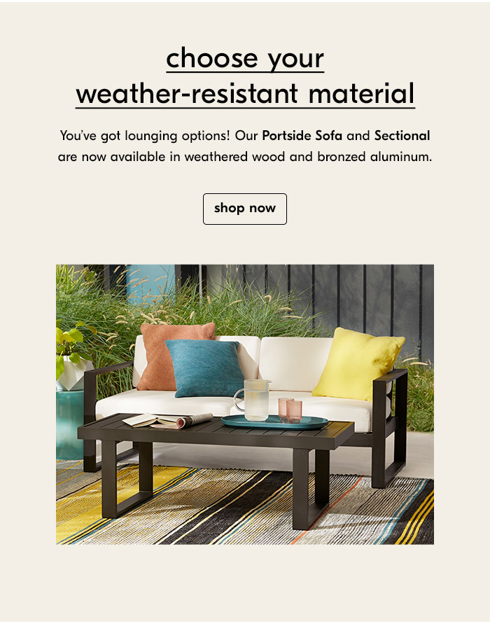 choose your weather-resistant material