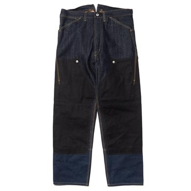 Junya Watanabe MAN  x Levis Double Name Cotton Canvas Paraffin Denim Pant Indigo x Black